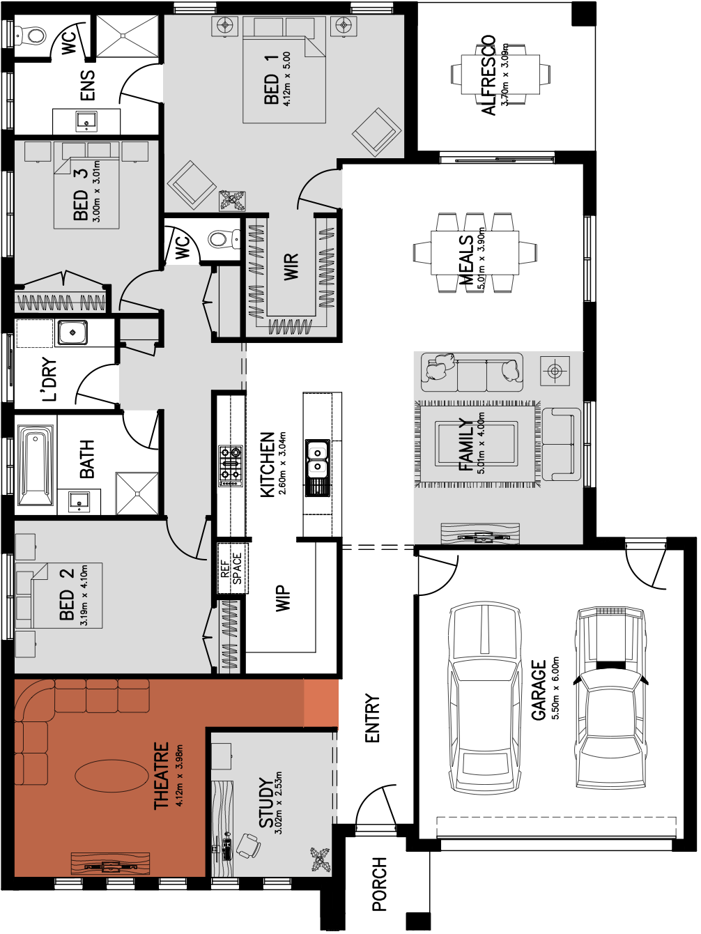 Lincoln 25 Floorplan